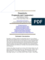 Empedocles Fragments and Commentary