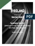 Birdland - Sax Quartet