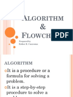 Algorithm, flowchart and sequence