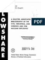 Selected Annotated Bibliography of the Civ8il Industrial and Scientific Uses for Nuclear Explosives a385614