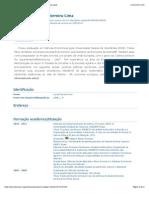Currículo Lattes - Jan. 2014