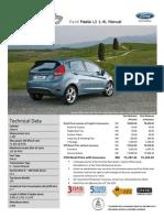 Ford Fiesta 1.4L Manual East Msia_2012