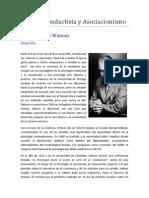 Modelo Conductista y Asociacionismo (J.B. Watson)