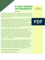 Elaboracion y Uso de Abonos Organicos y Ema