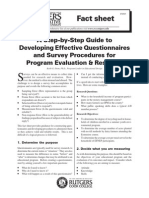Guide to Developing Questionnaires