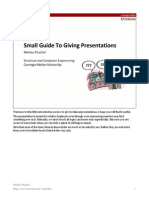 Small Guide to Giving Presentations