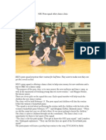 NSU Pom Squad Offers Dance Clinic
