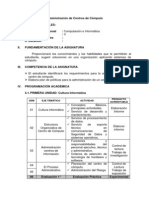 SILABO ADMINISTRACIÓN DE CENTROS DE CÓMPUTO
