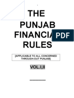 Punjab Financial Rules (PFR) Volume-1