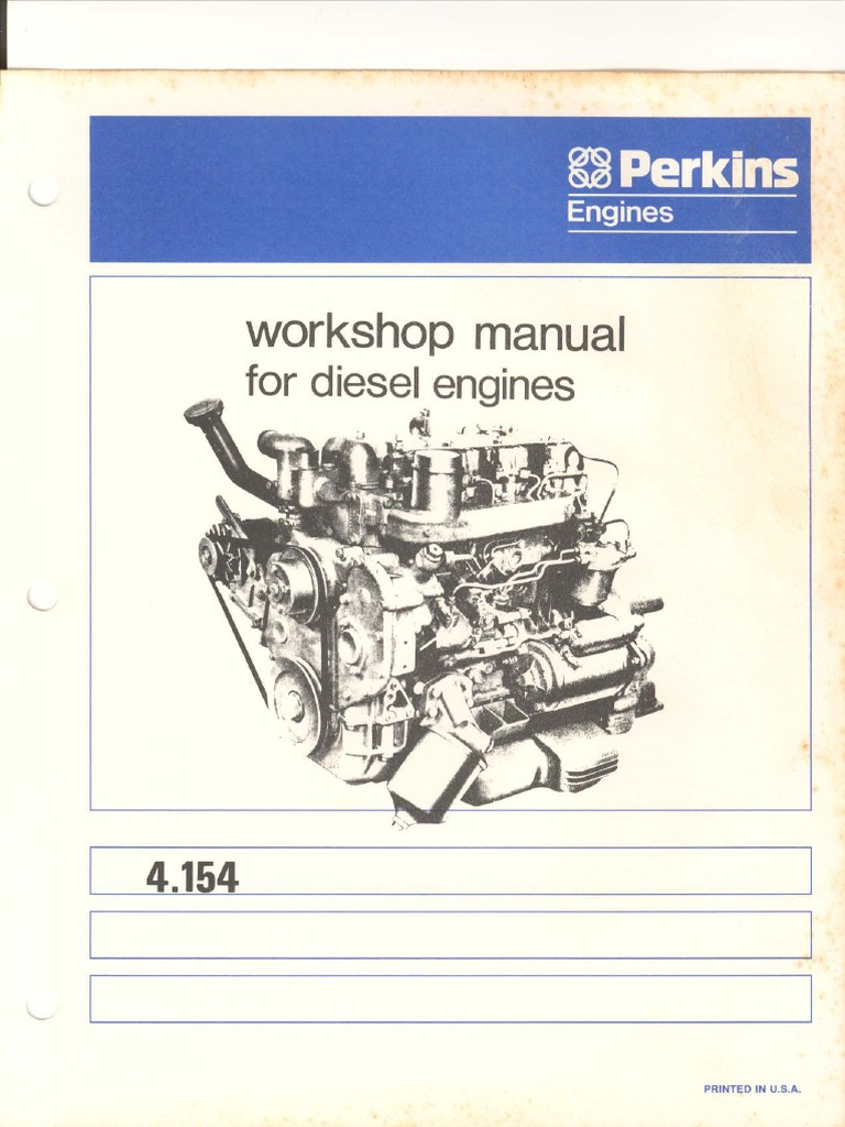 perkins 4 154 shop manual cylinder engine piston