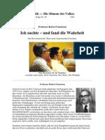 Robert Faurisson - Ich Suchte Und Fand Die Wahrheit (1982, 49 S., Text)