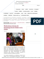Modernizan sistema de homologación de títulos en la UNAH