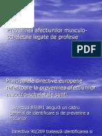 Prevenirea Bolilor Musculo Scheletale