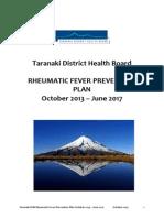 2013 12 Taranaki DHB Rheumatic Fever Prevention Plan