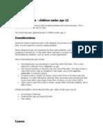 Abdominal Pains in Children Under 12
