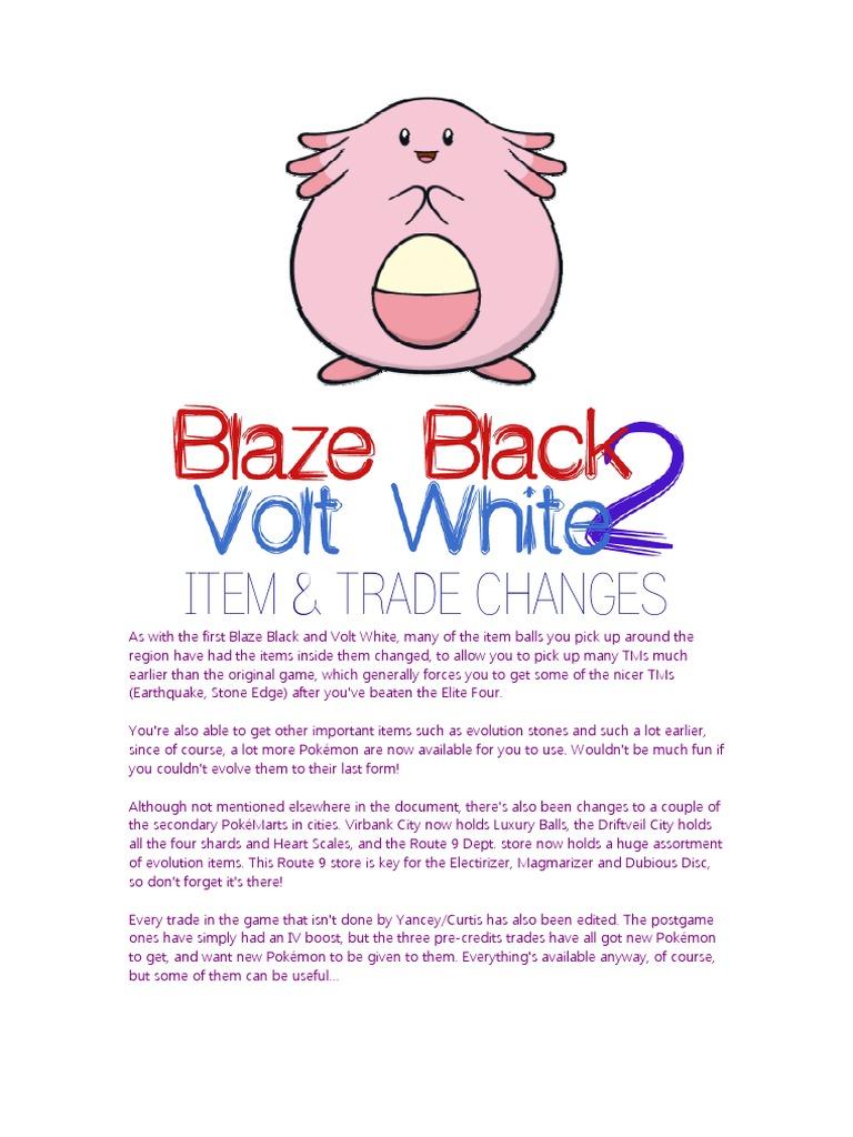 pokemon volt white documentation