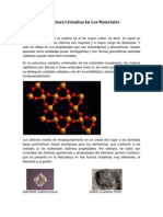 Estructura Cristalina en Los Materiales