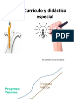 Currículo y didáctica especial