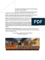 Jasper R5 School Board Common Core Resolution