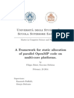 A Framework for static allocation of parallel OpenMP code on multi-core platforms.