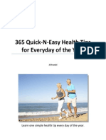365 Health Tips - Learn Quick-n-Easy Health Tips for Everyday of the Year