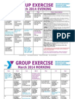 MARCH 2014 Group Exercise Calendar