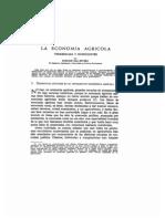 Economía Agricola - Tendencias y Horizontes