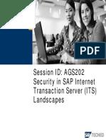 Security in SAP Internet Transaction Server Landscapes