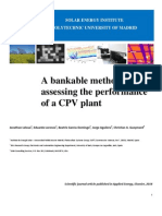 A bankable method of assessing the performance of a CPV plant