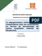PDF MARIAM KEBE - La Depigmentation Artificielle Et Ses Complications Chez Les Consultantes Au Service de Dermatologie Du CHN