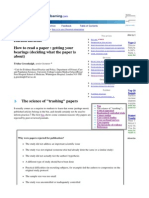 How to Read a Paper7801