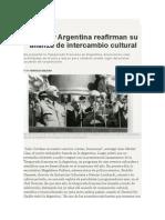 Horacio Bilbao - Francia y Argentina Reafirman Su Alianza de Intercambio Cultural.
