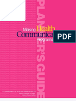Making Health Communication Plans that Work