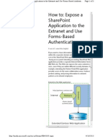 Expose a SharePoint Application to the Extranet and Use Forms-Based Authentication