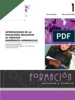 Aportaciones de la psicología educativa al proceso de enseñanza aprendizaje