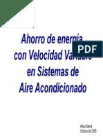 Ahorro de energía con Velocidad Variable en Sistemas de Aire Acondicionado arturoibarra