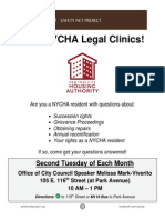 NYCHA Clinic Schedule