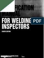 Manual de Soldadura Para Inspectores Aws NoPW