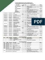 Jadwal Kuliah Genap Indralaya 2013-2014