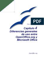 04-Diferencias Generales OpenOfficeorg MSOffice