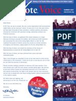 DC Vote Summer 07 Newsletter