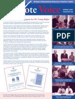 DC Vote Spring 05 Newsletter