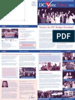 DC Vote Spring 13 Newsletter
