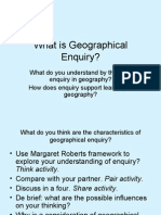 What is Geographical Enquiry?