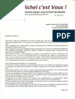 réponse de la liste Saint-Michel c'est Vous!, avec le Front de Gauche_Saint-Michel sur Orge