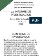 El Informe de Investigacion 15