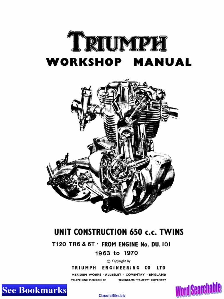Triumph Repair Manual 63 70 Pump Propulsion Wiring Diagram Dual Coils