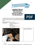 Manual Mazda 6 2003