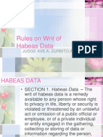 Rules on Writ of Habeas Data