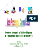 Fourier Analysis of Video Signals